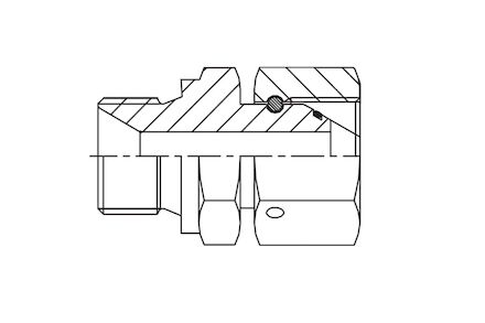Hydraulický adaptér - přímý -  male BSP / female BSP product photo