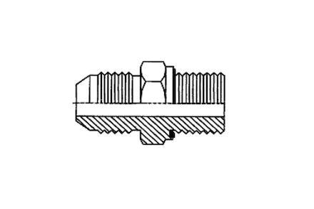 Adapteur mâle JIC - mâle ISO avec joint élastomère photo du produit