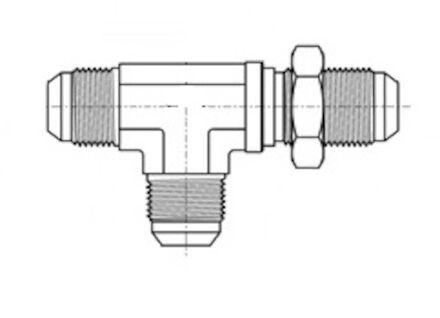 Tee Adaptor male JIC - JIC Bulkhead product photo
