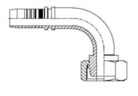 Embout femelle, cône 24°, pour tube métrique, série française photo du produit