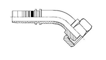Końcówka do węża - METRYCZNA ŻEŃSKA TYP FRANCUSKI GAZ (PIERŚCIEŃ TWORZYWOWY) DKF product photo