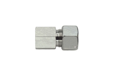 Stainless Tube Couplings 24 degrees DIN - Female Stud Metric - Light type with silver coated nut product photo