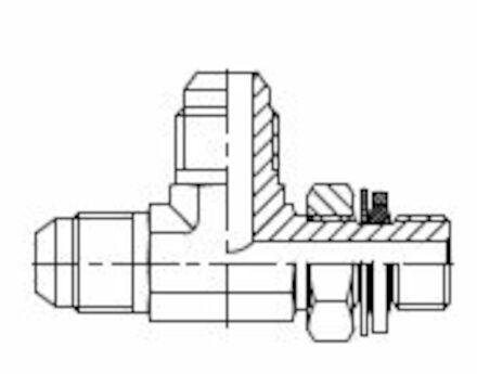 Té mâle renversé JIC - mâle ISO photo du produit