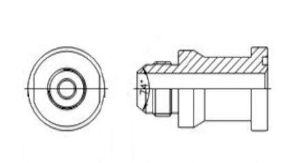 Adaptors Straight JIC Male - Flange SAE Code 62 product photo