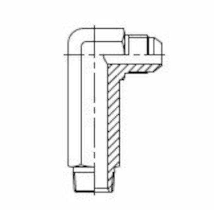 Hydraulic Adaptor 90°Extra Long Elbow JIC Male - NPTF Male photo du produit