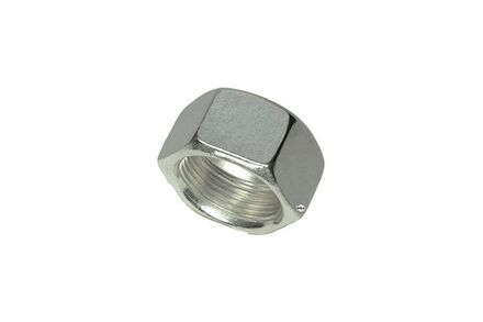 Stainless Nuts for Cutting Ring Connections - DIN 3870 + DIN EN ISO 8434-1 - Light type Silver Coated photo du produit