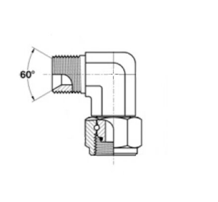 Hydraulický adaptér  - Koleno 90° -  male BSP / female BSP product photo