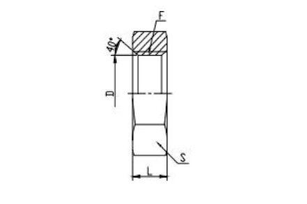 Hydraulic Adaptor - BSP Locknut for Bulkhead photo du produit