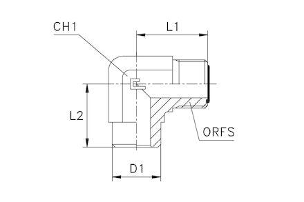 Adaptor ORFS Elbow photo du produit
