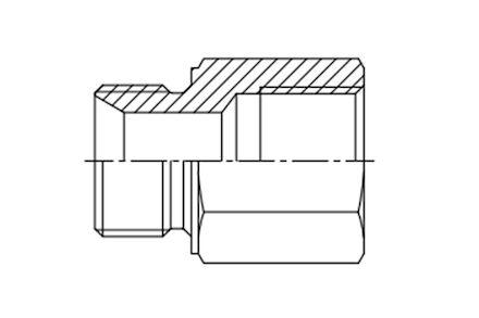 Straight Adaptor - Metric male- Metric female fixed photo du produit