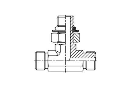 Trójnik symetryczny nastawny MĘSKI SAE UNF-UN z O.R. ISO 11926 -  2xORFS MĘSKI product photo
