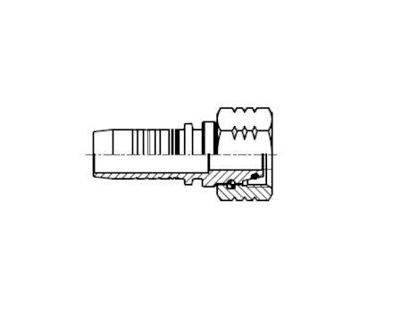 No-skive slangpilaar - Metrisch O-ring Binnendraad 24° conus Lichte toepassingen DKOL product photo