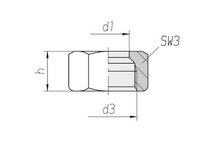 Nut DIN 3870 for Cutting Ring Connection S Series M-Type product photo