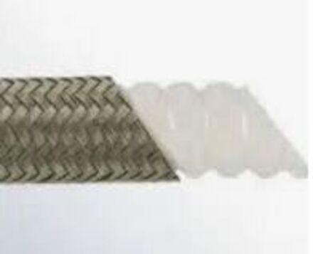 CorrugatedPTFE hosewithstainlesssteel 304braid photo du produit