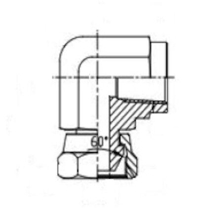 Elbow 90 Adaptor Female NPSM - Female NPTF