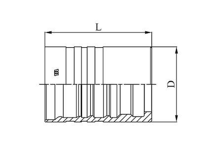 M01600 - Interlock slanghuls voor zware toepassingen (6 spiralen) product photo