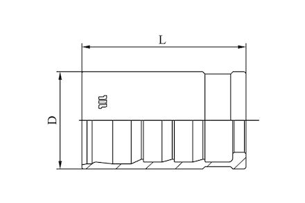 M00820 - No-skive huls voor Compact slang product photo