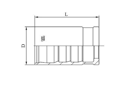 M00830 - No-skive huls voor Compact slang product photo