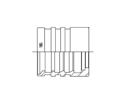 Jupe à sertir acier avec dénudage sur R2, R2T, Rockmaster 2 plus, 4SP, 4SH, Goldeniso28, Equateur 2, T3, R4 photo du produit