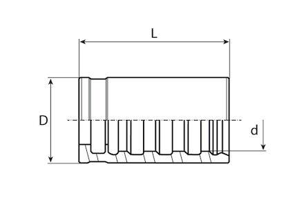 Jupe à sertir pour tuyau thermoplastique photo du produit