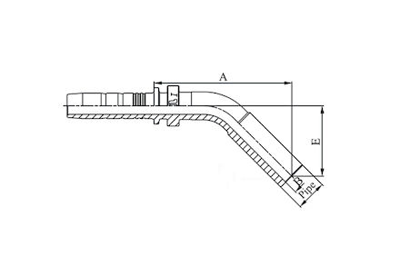 Embout lisse à sertir à 45°, pour tube métrique photo du produit