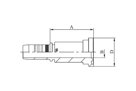 Hydraulická koncovka - KOMATSU FLANGE SFS-KOM product photo