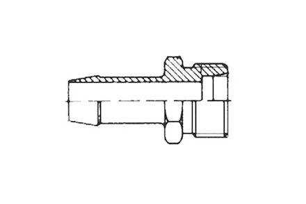 Lagedruk slangpilaar - buitendraad - metrisch 24° pijpverbinding DIN 3870 product photo