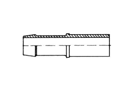 Lagedruk slangpilaar pijpeind - voor snijringverbinding product photo