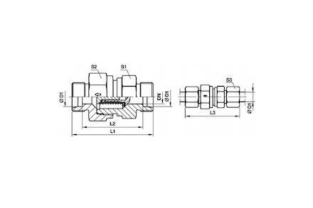 Złączka do Rur Metrycznych 24° DIN 2353 - Zawór Zwrotny - seria Ciężka product photo