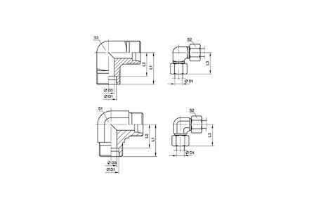 Złączka do Rur Metrycznych 24° DIN 2353 - KOLANKO MĘSKIE - seria Ciężka product photo