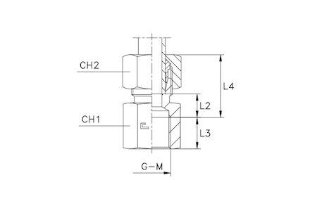 Snijringverbinding 24° - DIN 2353 - opschroefkoppeling metrisch - serie Zwaar product photo