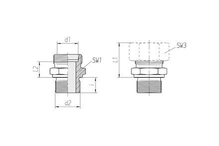 Snijringverbinding 24° - DIN 2353 - inschroefkoppeling metrisch - serie Zwaar product photo
