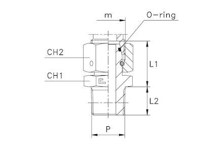 Snijringverbinding 24° - DIN 2353 - NPT inschroefkoppeling met wartel - serie Zwaar product photo
