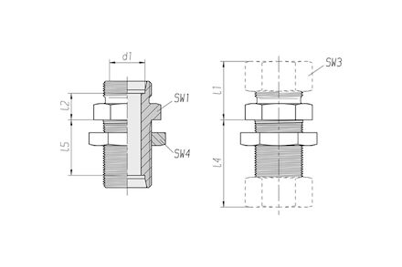 Snijringverbinding 24° - DIN 2353 - schotverbinding - serie Zwaar product photo