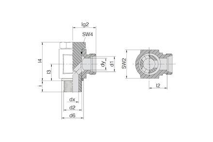 Złączka do Rur Metrycznych 24° DIN 2353 - Przyłączka BSP Banjo - seria Ciężka product photo