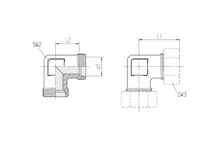 Snijringverbinding 24° - DIN 2353 - knie-verbindingskoppeling - serie Zwaar product photo