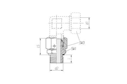 Snijringverbinding 24° - DIN 2353 - inschroefkoppeling metrisch met wartel en elastomeer afdichting - serie Zwaar product photo