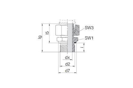 Snijringverbinding 24° - DIN 2353 - inschroefkoppeling BSP met wartel en elastomeer afdichting - serie Zwaar product photo