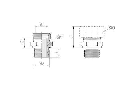 Snijringverbinding 24° - DIN 2353 - inschroefkoppeling metrisch met elastomeer afdichting - serie Zwaar product photo