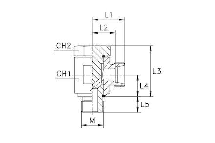 Złączka do Rur Metrycznych 24° DIN 2353 - Przyłączka Metryczna BANJO - seria Ciężka product photo