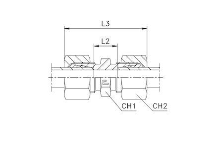 Snijringverbinding 24° - DIN 2353 - koppeling recht - serie Licht product photo