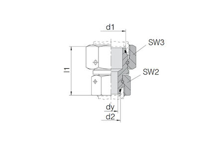 Swivel Reducer with 24° DKO swivel and NBR O-ring L Series GZR-Type photo du produit