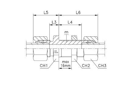 Snijringverbinding 24° - DIN 2353 - schotverbinding - serie Licht product photo