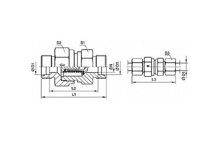 Snijringverbinding 24° - DIN 2353 - terugslagklep product photo