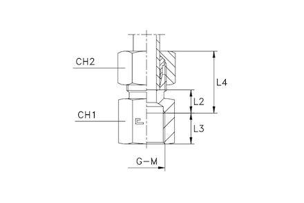 Przyłączka do Rur Metrycznych 24° DIN 2353 - Metryczna ŻEŃSKA - seria Lekka product photo
