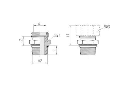 Připojovací adaptér GEO pro metrické trubky 24° DIN2353 metrický závit s o-kroužkem, lehká řada product photo