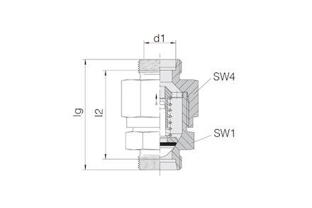 Snijringverbinding 24° - DIN 2353 - terugslagklep - serie Licht