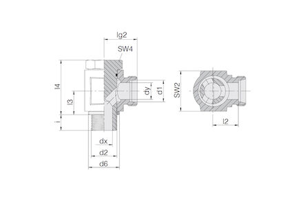 Snijringverbinding 24° - DIN 2353 - BSP banjokoppeling met holbout en elastomeer afdichting - serie Licht product photo