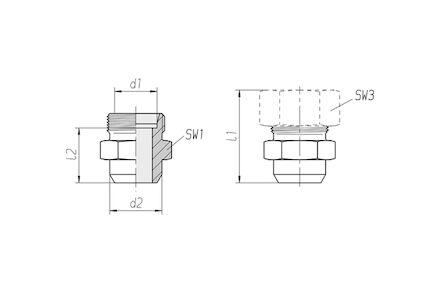 Snijringverbinding 24° - DIN 2353 - aanlaskoppeling - serie Licht product photo