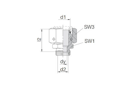 Snijringverbinding 24° - DIN 2353 - verloopkoppeling 24° DKO swivel / 24° conus - serie Licht product photo